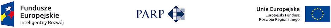 logotyp Fundusze Europejskie - inteligentny rozwój,PARP i flaga unii europejskiej