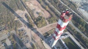 modernizacja żelbetowego komina w Zakładzie Wytwarzania Nowa
